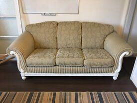 Shabby chic 3 seater sofa