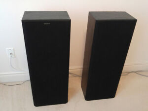 A Pair of Sony  3-way Tower Speakers SS-C400