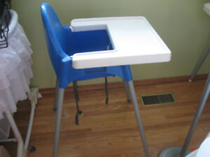 blue ikea highchair