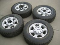 New set of 4 F350 F250 Wheels w/ BFG Rugged trail LT625/70R17