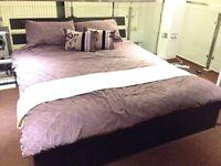 Modern King Size Bed with Memory foam Mattress