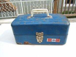 Vintage PLAYMAKER METAL FISHING TACKLE BOX