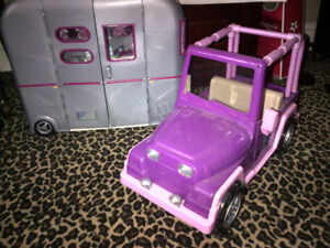 """Our Generation Dolls """"RV Camper & Jeep Combo"""" in MINT Condition!"""