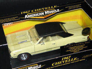 Ertl 1/18 1967 Chevy Chevelle SS396 Diecast Car Yellow