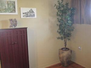 Arbuste d'intérieur artificiel avec vase décoratif