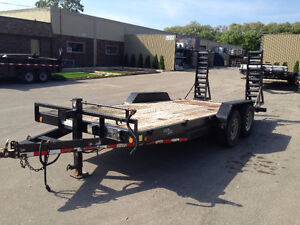18ft Utility Trailer Float with 2x7000lb Axels for 14000lbs Sarnia Sarnia Area image 2
