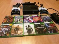 Xbox 360 Slim 250GB / Kinect / 4 controllers / 10+ games + more