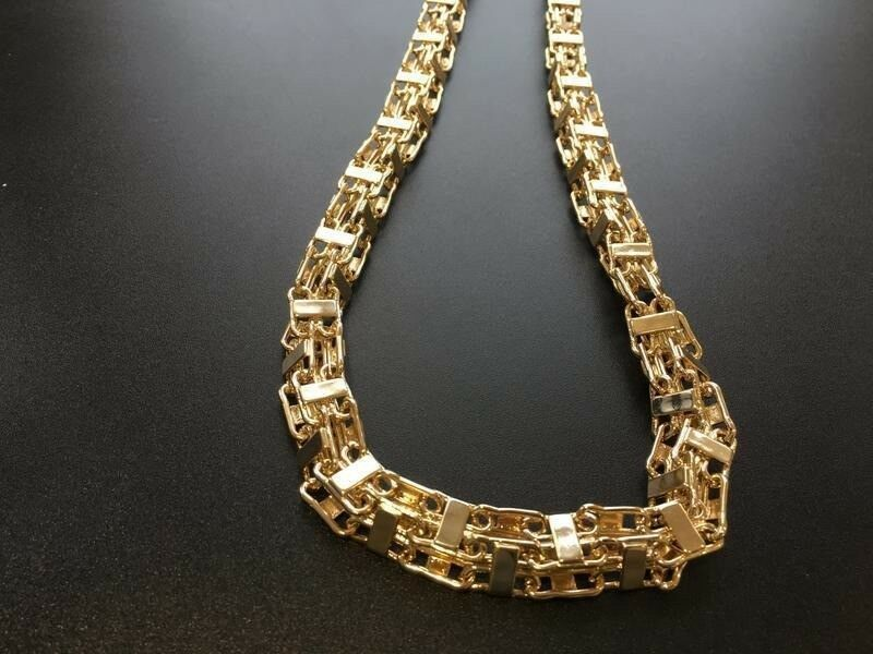 514d80d05927b Men's Gold Plated Hand-Made Italian Cage Chain 24/30/36 inches | in  Grantham, Lincolnshire | Gumtree