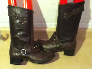 Women's Marie Passion Tall Brown Leather Boots Size 6.5 London Ontario image 1
