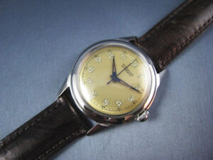 Vintage  Wittnauer Automatic Stainless Steel Mens Watch  c. 1950