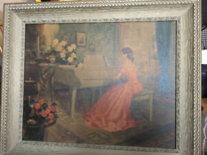 """Vintage picture and Frame- """"Allegro"""""""