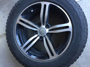 WINTER HANKOOK TIRES AND RIMS - GM 5X120 BOLT PATTERN