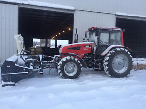 4-wd 125 hp Belarus Tractor with 10' Front mounted snowblower