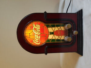 Coca-Cola Stained Glass Look Radio