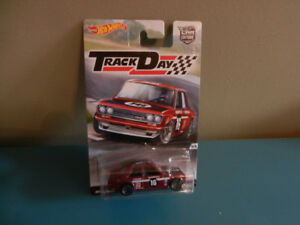 Hot Wheels Datsun Bluebird 510 Track Day with Real Riders
