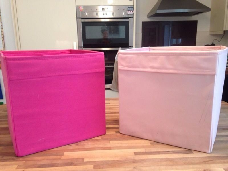 Ikea Pink Drona Storage Boxes Cubes In Lichfield