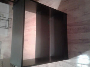 REDUCED. Open back black book case .was 20.00 now 15.00