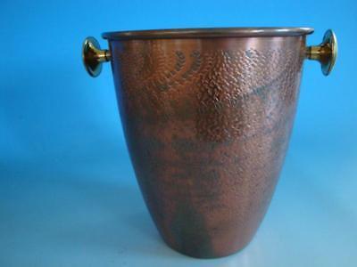 RS0817-078: Kupfer Sekt / Weinkühler 70er Reliefdekor