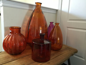 Recycled Glass Vases by Shiraleah