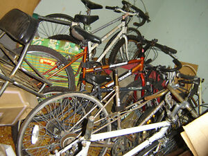 BICYCLES: FOR REPAIR OR PARTS.  MAKE OFFERS  SCRAPING?