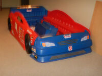 Step 2 Race Car Bed with matching tool chest $225 obo