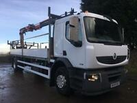 2009 Renault Premium 240dxi 22ft dropside Atlas 92.2 crane with post hole boarer