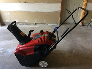 Single Stage Gas Snowblower with Electric Start