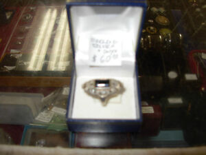 Antique Sterling Silver & Black Onyx Ring Cambridge Kitchener Area image 1