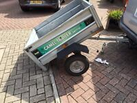 Car Trailer 3ft X 4ft Camel SWTT70 Tipping trailer with spare wheel