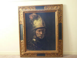 Rembrent Man With Golden Helmet Painting