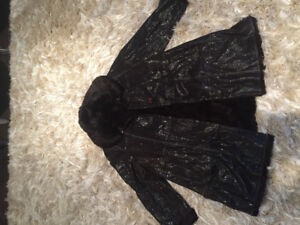 Winter coat with real interior fur size XL