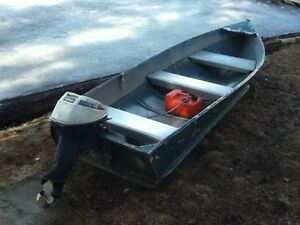 12ft Sears Aluminum boat with 9.5 Evinrude