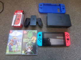 Ninetendo switch and games
