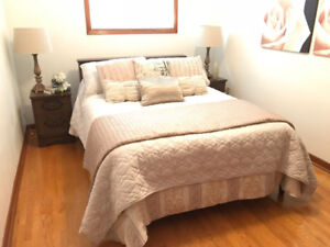 Bedroom Furniture Bed, matching side tables and chest of drawers