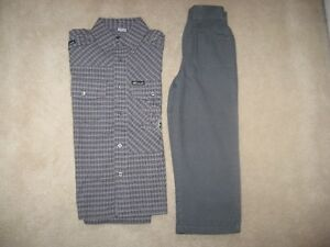 Boys Long Sleeve Dress Shirt And Pants Size 5T (Brand New!)