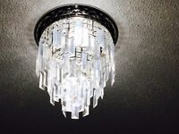 3 stage Chrome Chandelier