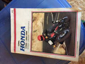 Honda VT500 service manual '83 to '88