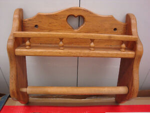 Paper Towel Holder/Shelf - Solid Wood Peterborough Peterborough Area image 1