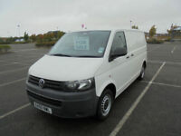 2010 60 VW VOLKSWAGEN TRANSPORTER 2.0TDi 102PS SWB T30 T5 PANEL VAN IN WHITE