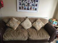 DFS Preze 3 & 4 Leather and Material Sofas