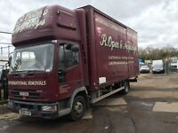 Iveco tector 2004 removal lorry 1 owner low milage 20ft box very clean long test