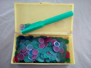 MAGNETIC BINGO  MARKER SET. DISCS-WAND- BOX..ALL FOR 10.00 FIRM