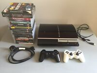 PS3 Console - 23 Games - 2 Controllers, Plus Cable