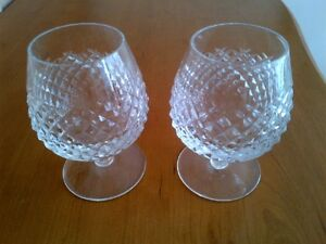 TWO WATERFORD CRYSTAL BRADY SNIFFTERS