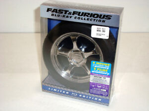FAST & FURIOUS Blu-ray in LTD ED RACING WHEEL TIRE CONTAINER