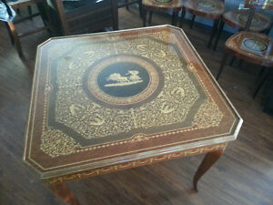 Notturne Intarsia Sorrento Inlaid Games Table