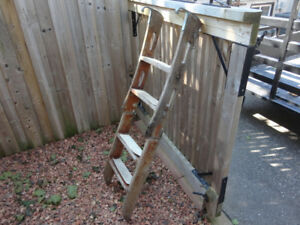Vintage Chris Craft 4 Step Folding Swim Ladder