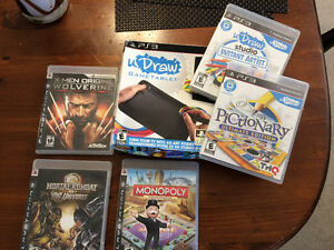 PS3 tablet and assorted games