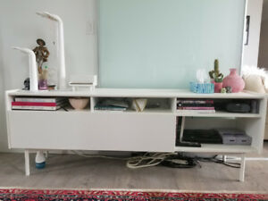 MEDIA UNIT, ALL WHITE, LOTS OF STORAGE - IKEA