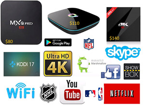 Elite Android Tv Boxes(Plug and Play) and Backlit Keyboards